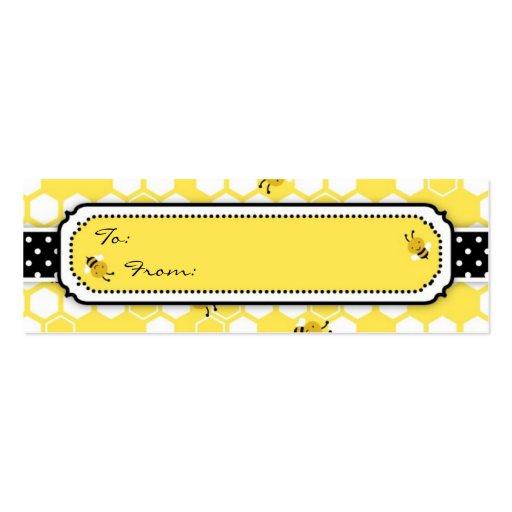 Manosee la etiqueta flaca del regalo de la abeja tarjetas de visita