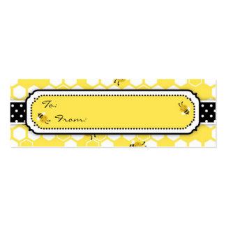 Manosee la etiqueta flaca del regalo de la abeja tarjetas de visita mini