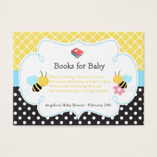 Manosee la petición amarilla y negra de la abeja tarjeta de negocios