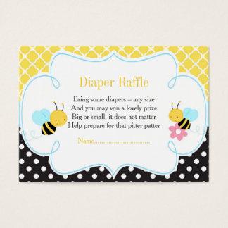 Manosee la rifa amarilla y negra de la abeja del tarjeta de visita