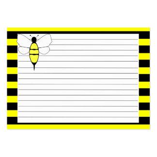 Manosee la tarjeta de la receta de la abeja tarjeta de visita