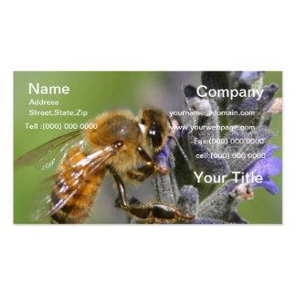 Manosee la tarjeta de visita de la abeja tarjetas de visita