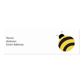 Manosee la tarjeta del perfil de la abeja tarjetas de visita