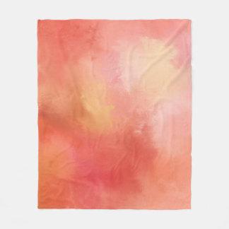 Manta abstracta anaranjada del paño grueso y suave