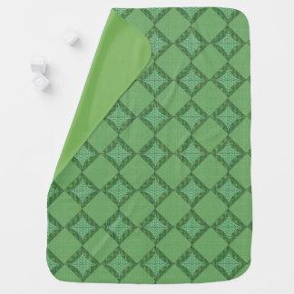 Manta abstracta verde del bebé del modelo