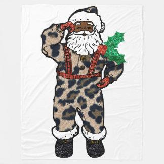manta africana de Papá Noel del leopardo
