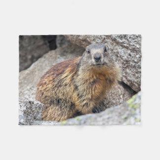 Manta alpina del paño grueso y suave de la marmota