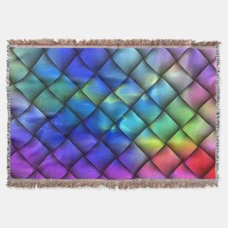 Manta Armadura de cesta del color del arco iris