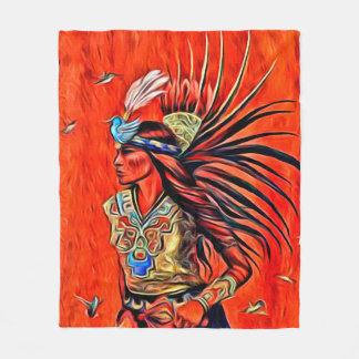 Manta azteca del paño grueso y suave del nativo