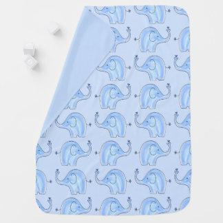 Manta azul del bebé de los elefantes