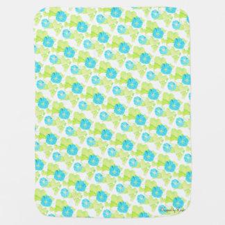 Manta azul del bebé del jardín de la correhuela mantas de bebé