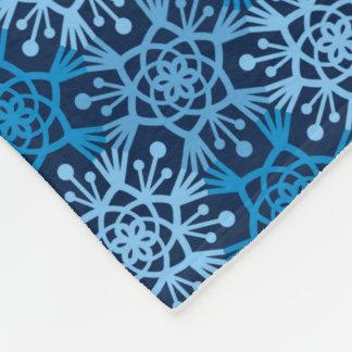 Manta azul del paño grueso y suave del copo de