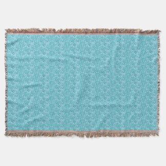 Manta Azul Placer-Suave del vintage elegante