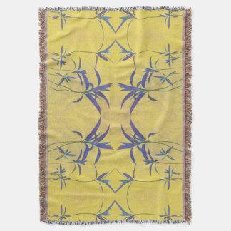 Manta Azul y amarillo rústicos