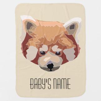 Manta Bebé Personalizable Red Panda
