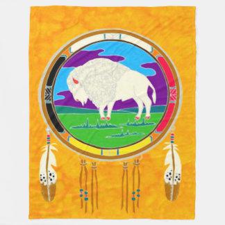 Manta blanca del paño grueso y suave del nativo