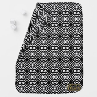 Manta blanca negra decorativa del bebé del