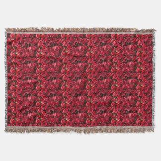 Manta Blanet del tiro de la impresión del rosa rojo