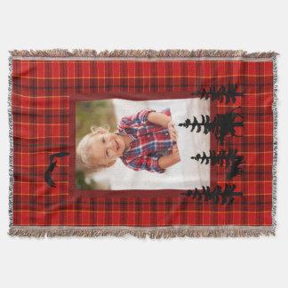 Manta Bosque rojo del modelo de la tela escocesa de la