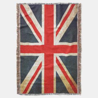 Manta británica del tiro de la bandera de Union