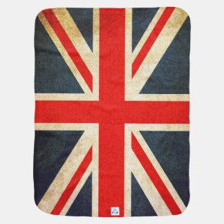 Manta británica retra del bebé de la bandera de mantas de bebé