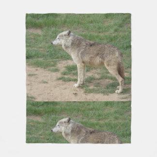 Manta canina del paño grueso y suave del lobo de