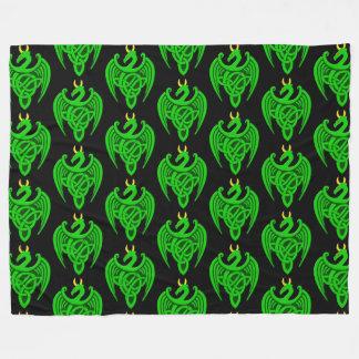 Manta céltica verde del paño grueso y suave del