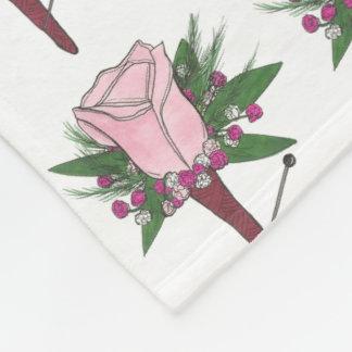 Manta color de rosa rosada de la flor del