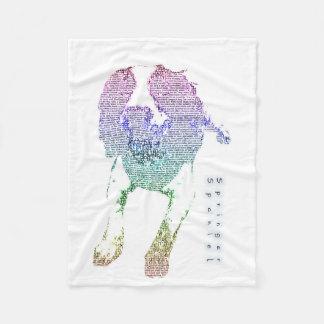 Manta colorida del arte de la palabra del perro de