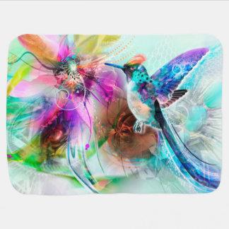 Manta colorida del bebé del colibrí