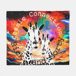 Manta cósmica del teñido anudado de las jirafas de