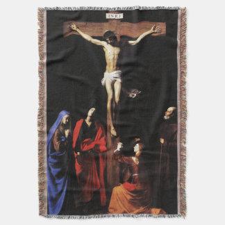 Manta Crucifixión de Jesús y Virgen María y St John