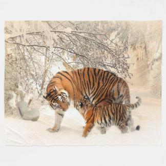 Manta de encargo de la madre del tigre y del paño