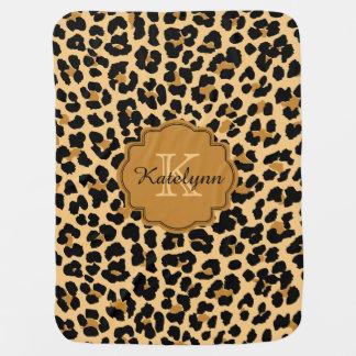 Mantita Para Bebé Manta de encargo del bebé del estampado leopardo