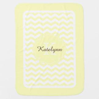 Mantita Para Bebé Manta de encargo del bebé del zigzag amarillo en