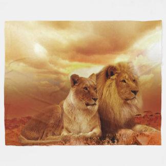 Manta de encargo del paño grueso y suave del león