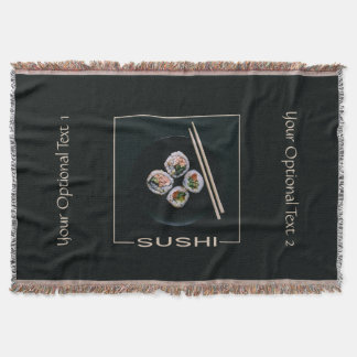 Manta de encargo del tiro del texto del sushi