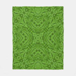 Manta de encargo verde del paño grueso y suave que