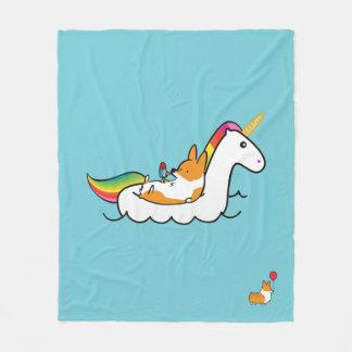 Manta de Floatie del unicornio del Corgi