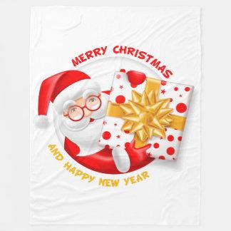 Manta de la Feliz Año Nuevo de Papá Noel