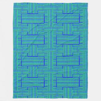 manta de la tela escocesa del verde azul