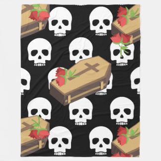 manta de los emojis del ataúd del cráneo