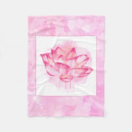 Manta de Lotus de la acuarela pequeña