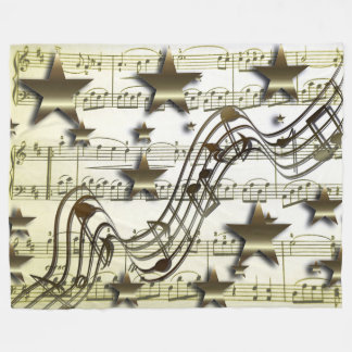 Manta de oro del paño grueso y suave de la música