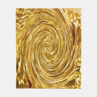 Manta de oro del paño grueso y suave del remolino