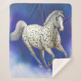 Manta de Sherpa del caballo del Appaloosa del
