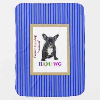"""Manta del bebé de HAMbWG - dogo francés """"Samson """""""