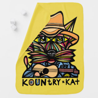 "Manta del bebé de ""Kountry Kat"""