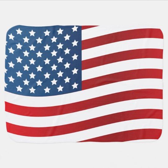Manta del bebé de la bandera americana mantita para bebé