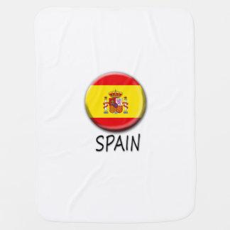 Manta del bebé de la bandera de España